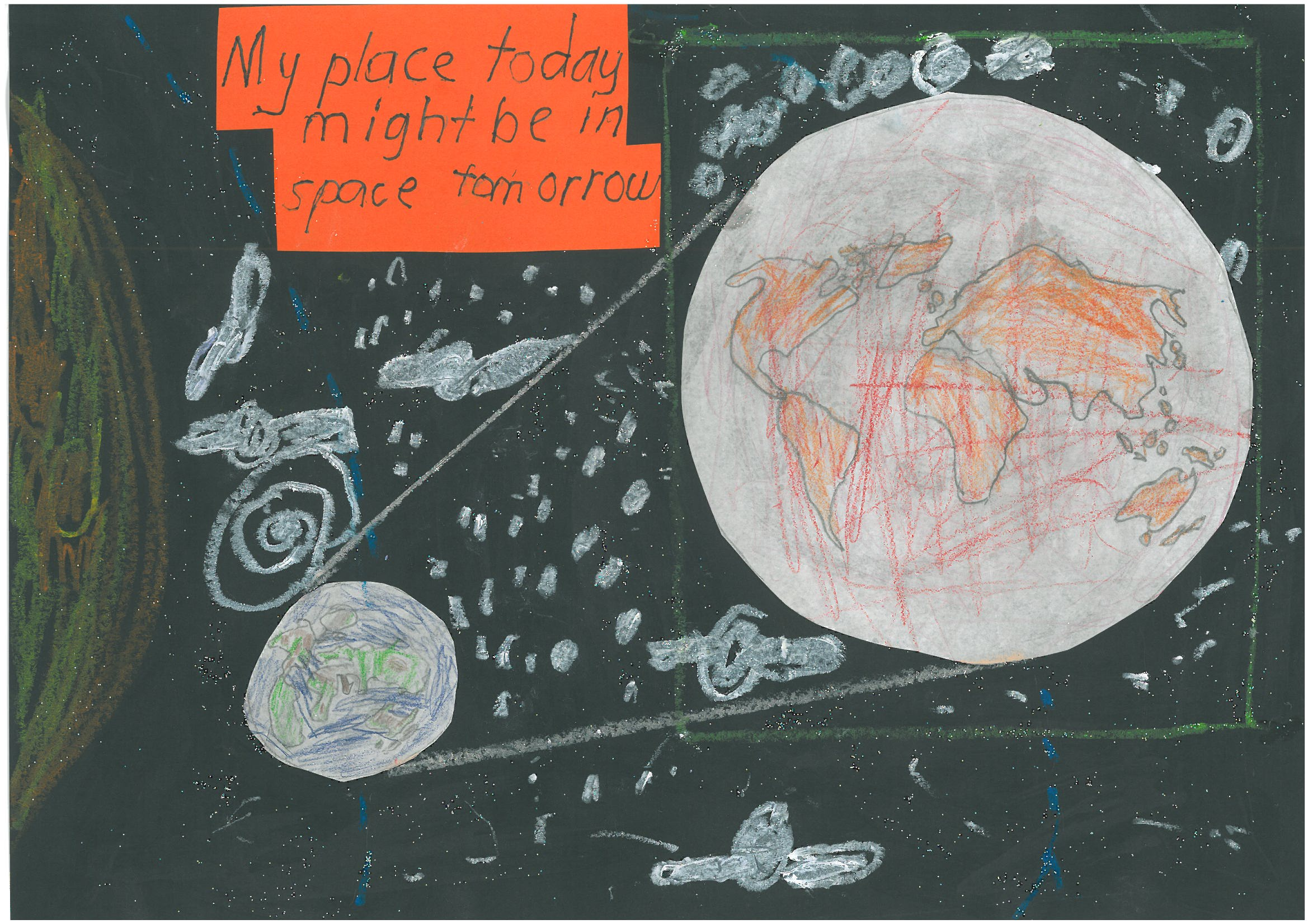 034 - My place today might be in space tomorrow Otto Pattemore - Age 6